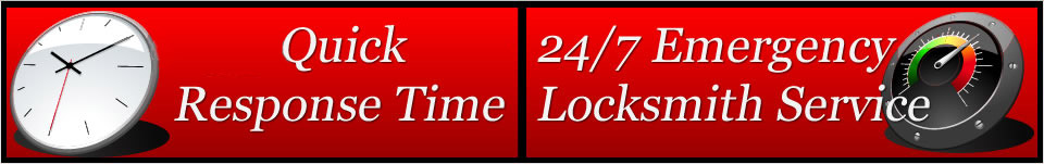 Quick response time. 24/7 emergency locksmith service